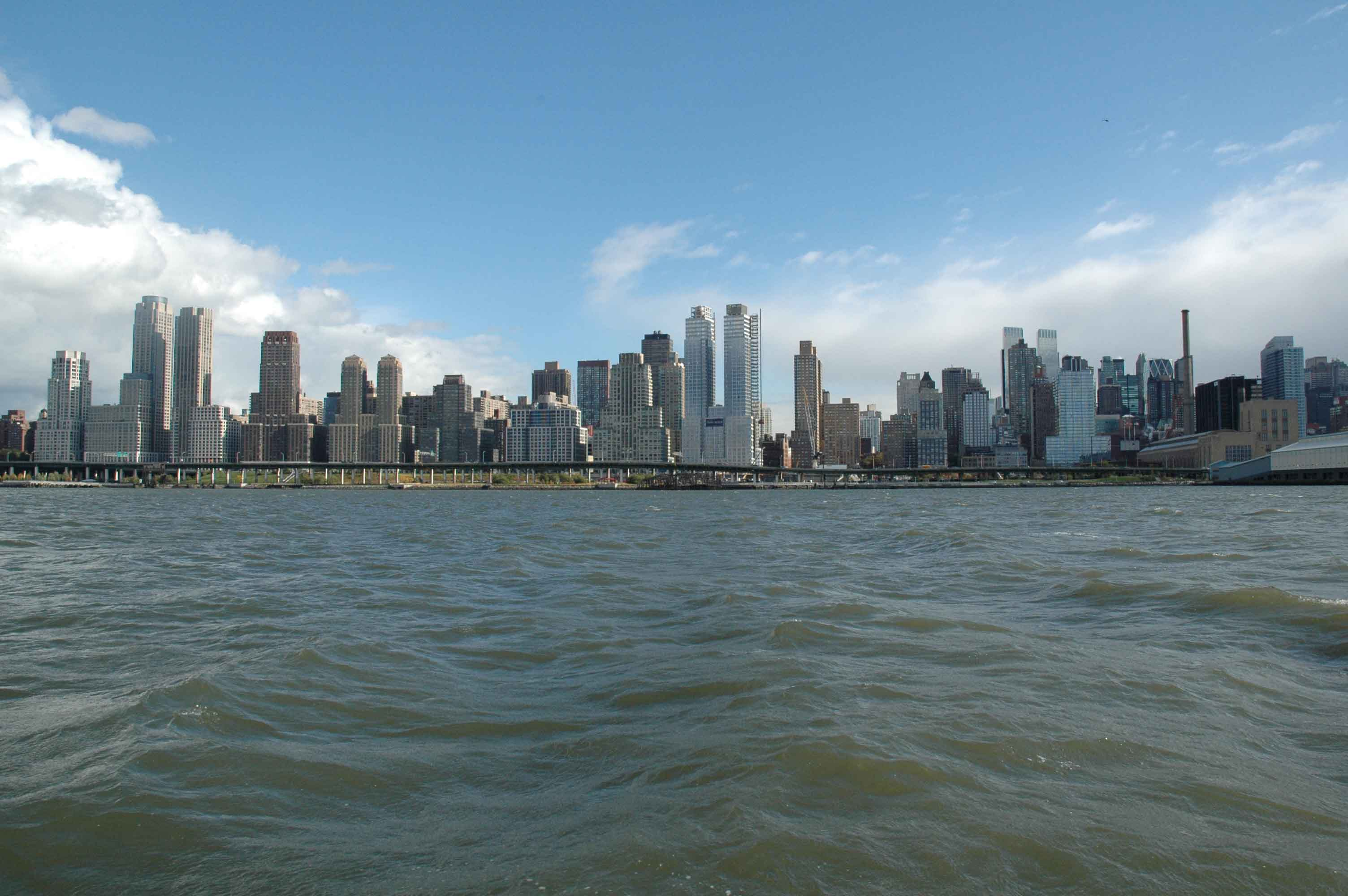 Manhattan on the Hudson.