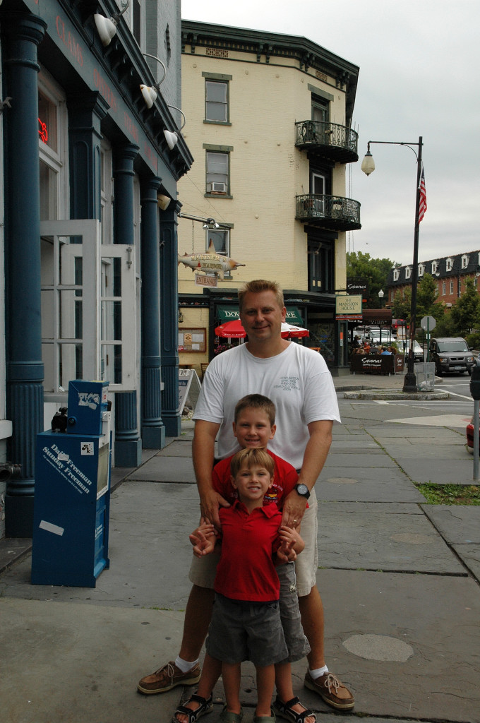 Going for a stroll in Kingston, NY.