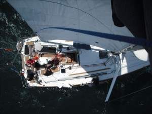 Cockpit of Jeanneau 39i Performance