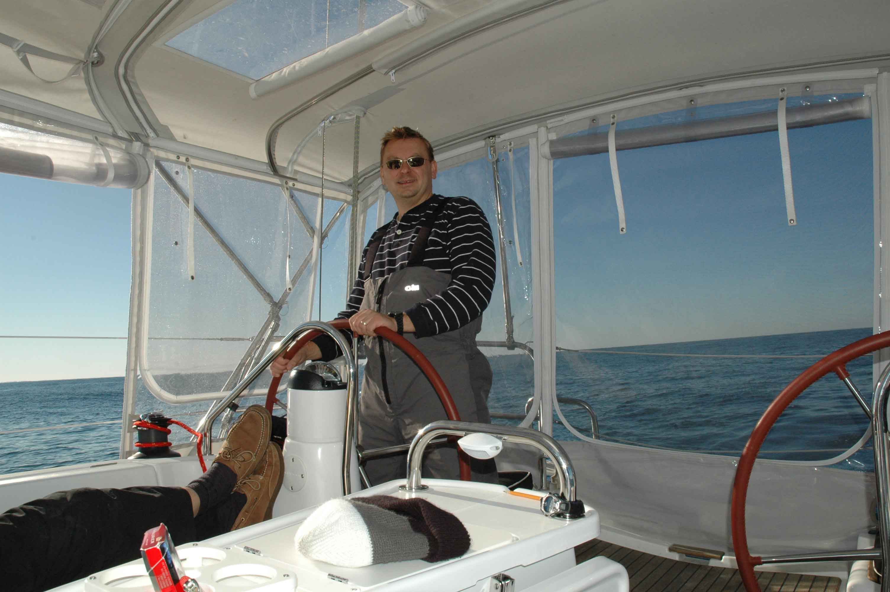 Ed enjoying some ocean sailing.