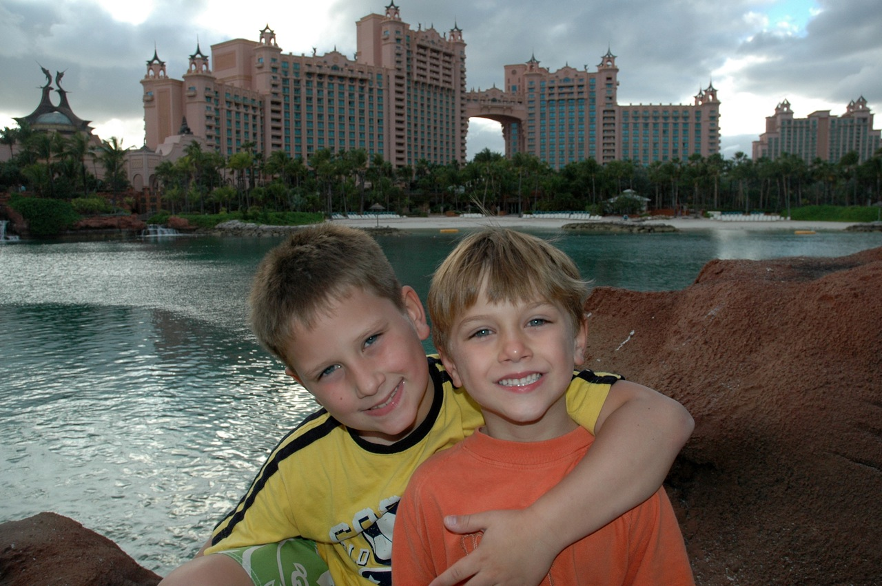 Me and my brother in front of Atlantis.
