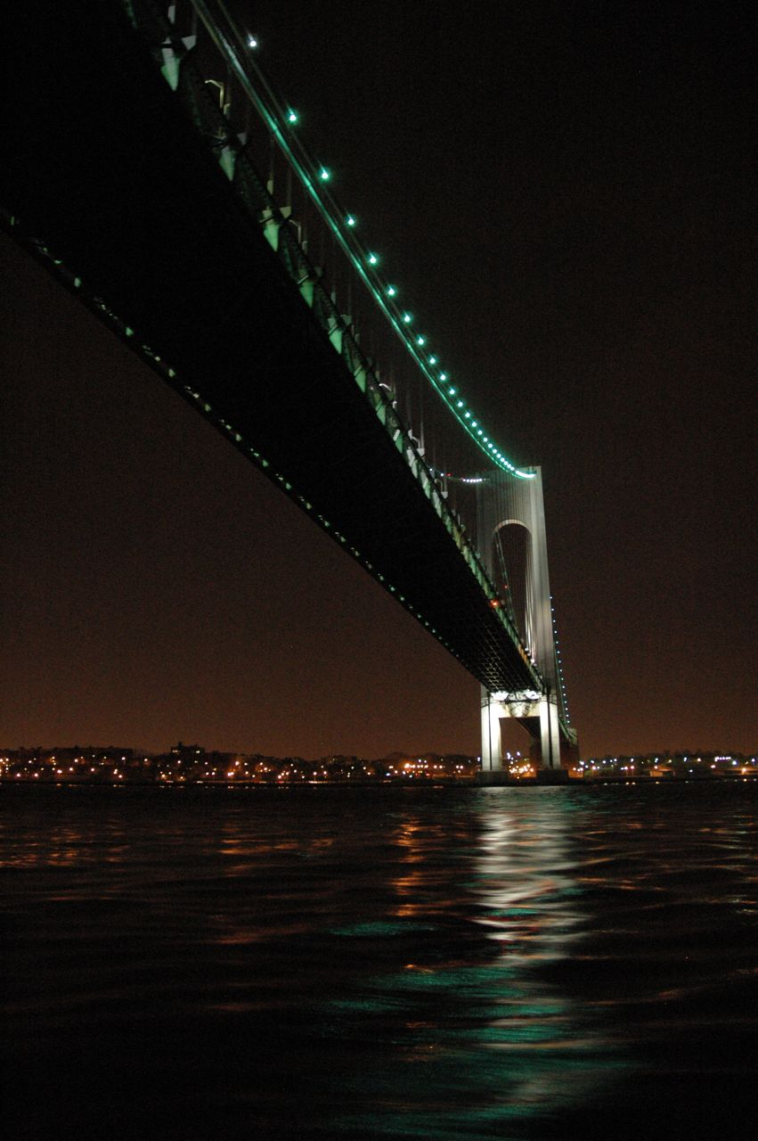 Verrazano Narrows Bridge entering Manhattan & Staten Island. This bridge can be seen 6 hours out by sail boat.