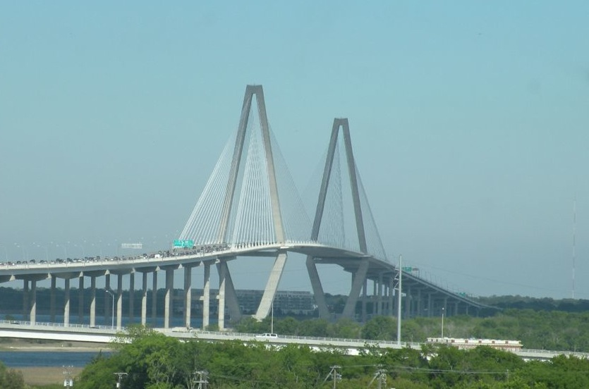 (c) 2009 - The new Charleston Bridge is becoming an icon and symbol of the city.