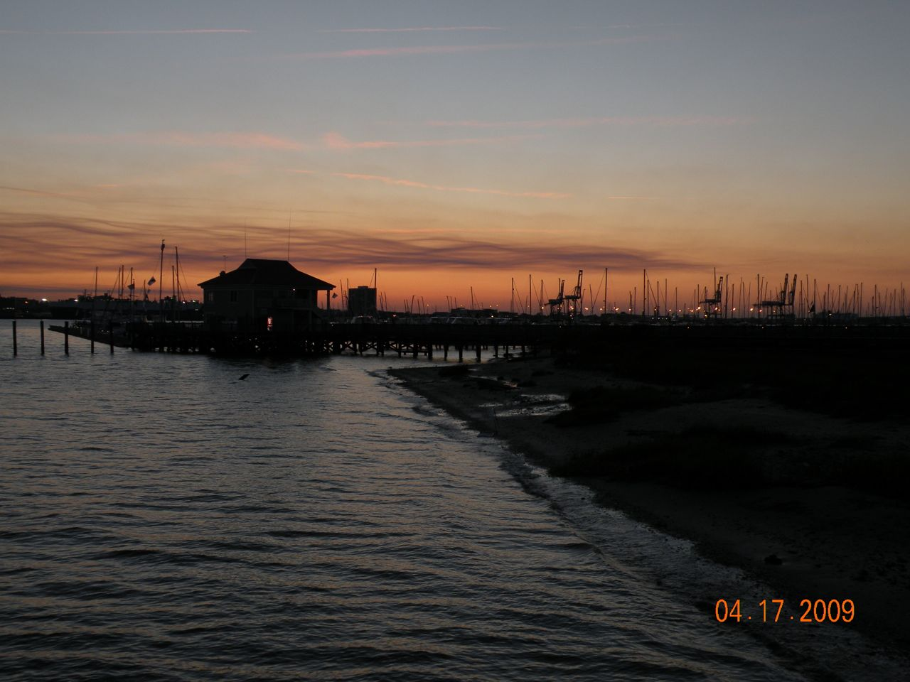 Charleston Harbour Marina at dusk. - (c) Copyright 2009