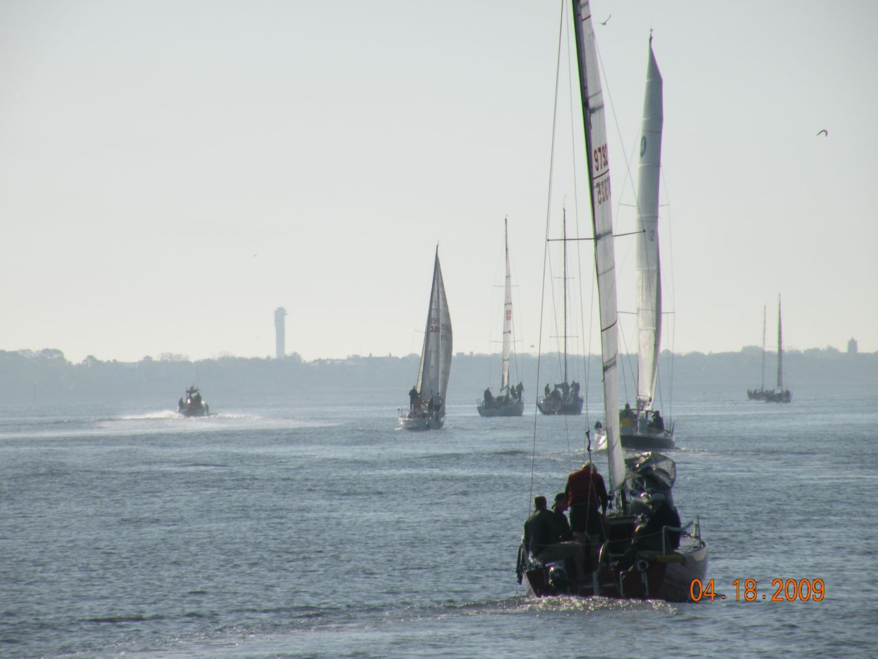 Competitors leaving early at about 7AM for the race course offshore in Charleston - (c) Copyright 2009