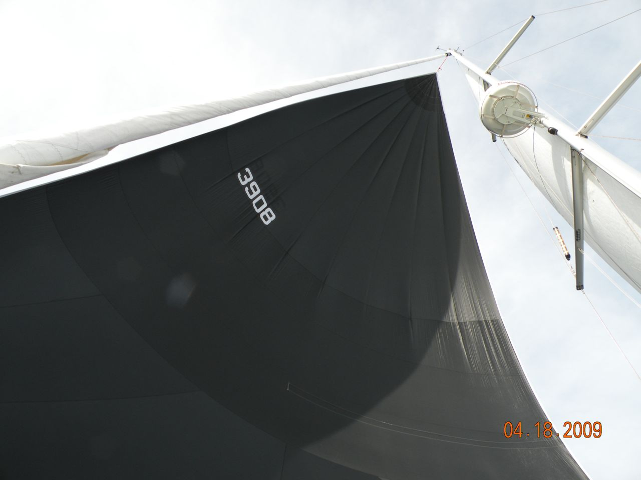 Flying the Solid Black Spinnaker. - (c) Copyright 2009