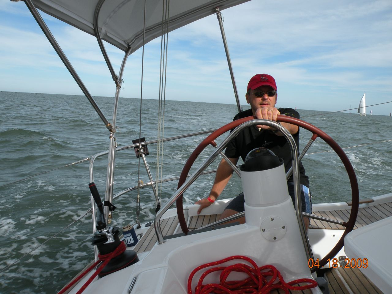 Ed helming from the leeward side. - (c) Copyright 2009