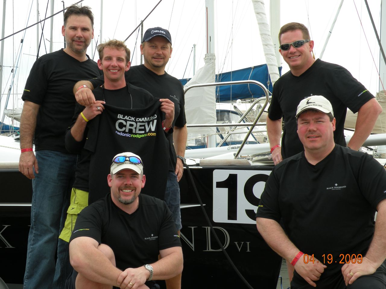 Charleston Race Week Black Diamond Crew, Ivan, Chris, Ed, Dubie, Derek and Craig. - (c) Copyright 2009