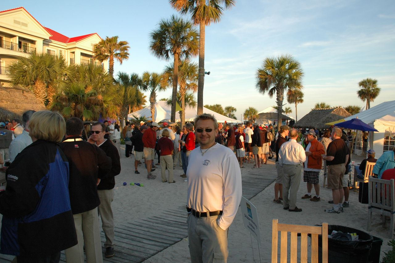 Ed posing in the Regatta Village, Charleston Harbor Marina & Resort.