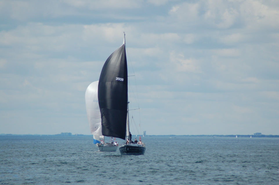 Sailing with our solid Black Spinnaker. Photo by Glenn Butt m/v Square Pants.