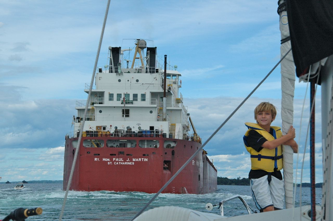 Sailing The Thousand Islands, St. Lawrence Seaway in Ontario.