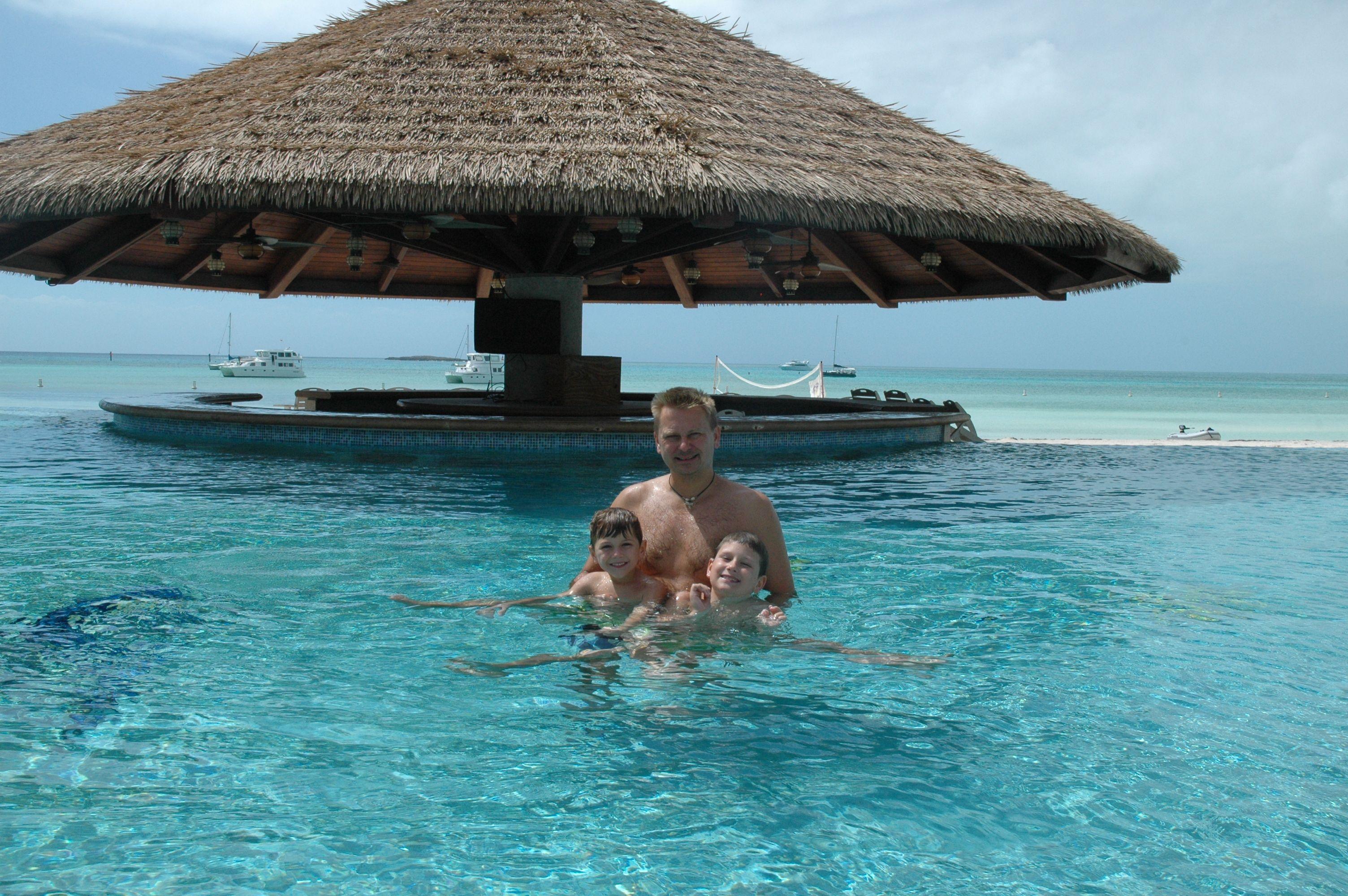 Chubb Cay Swim up Bar.