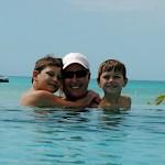 Chubb Cay pool, beach, boat.