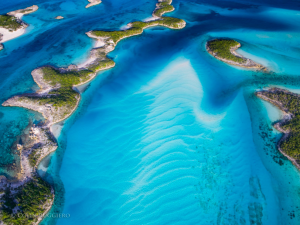 Exuma Bahamas from the sky