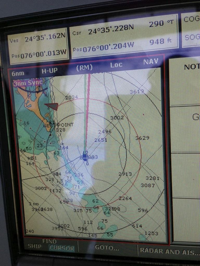 Chart Plotter of Little San Salvador