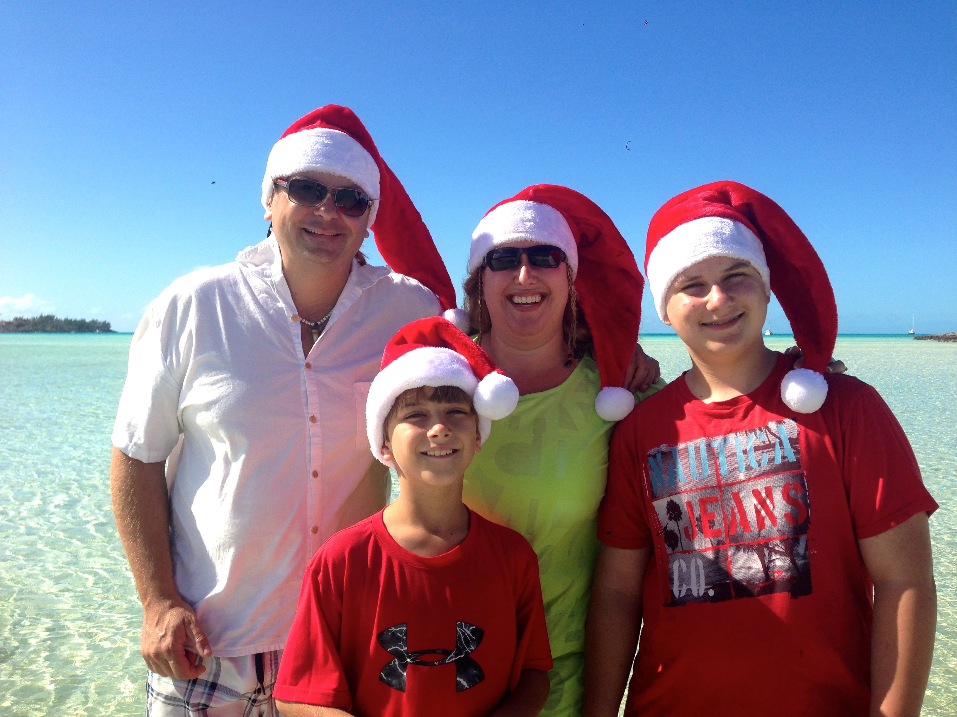 Christmas at Black Point, Exuma, Bahamas