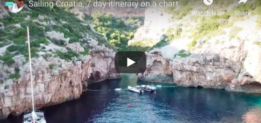 7 day Croatian Sailing Charter Itinerary